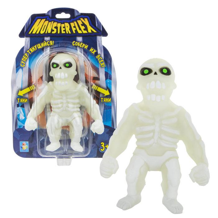 Купить Тянущаяся фигурка Monster Flex - Скелет, светится в темноте, 15см, 1TOY