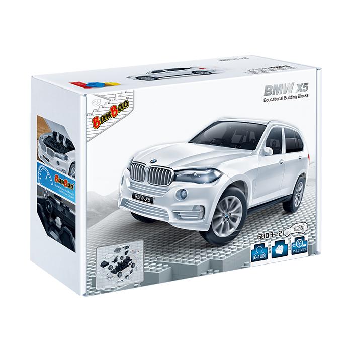 Конструктор - Машина BMW X5, белый цвет, масштаб 1:28Конструкторы BANBAO<br>Конструктор - Машина BMW X5, белый цвет, масштаб 1:28<br>