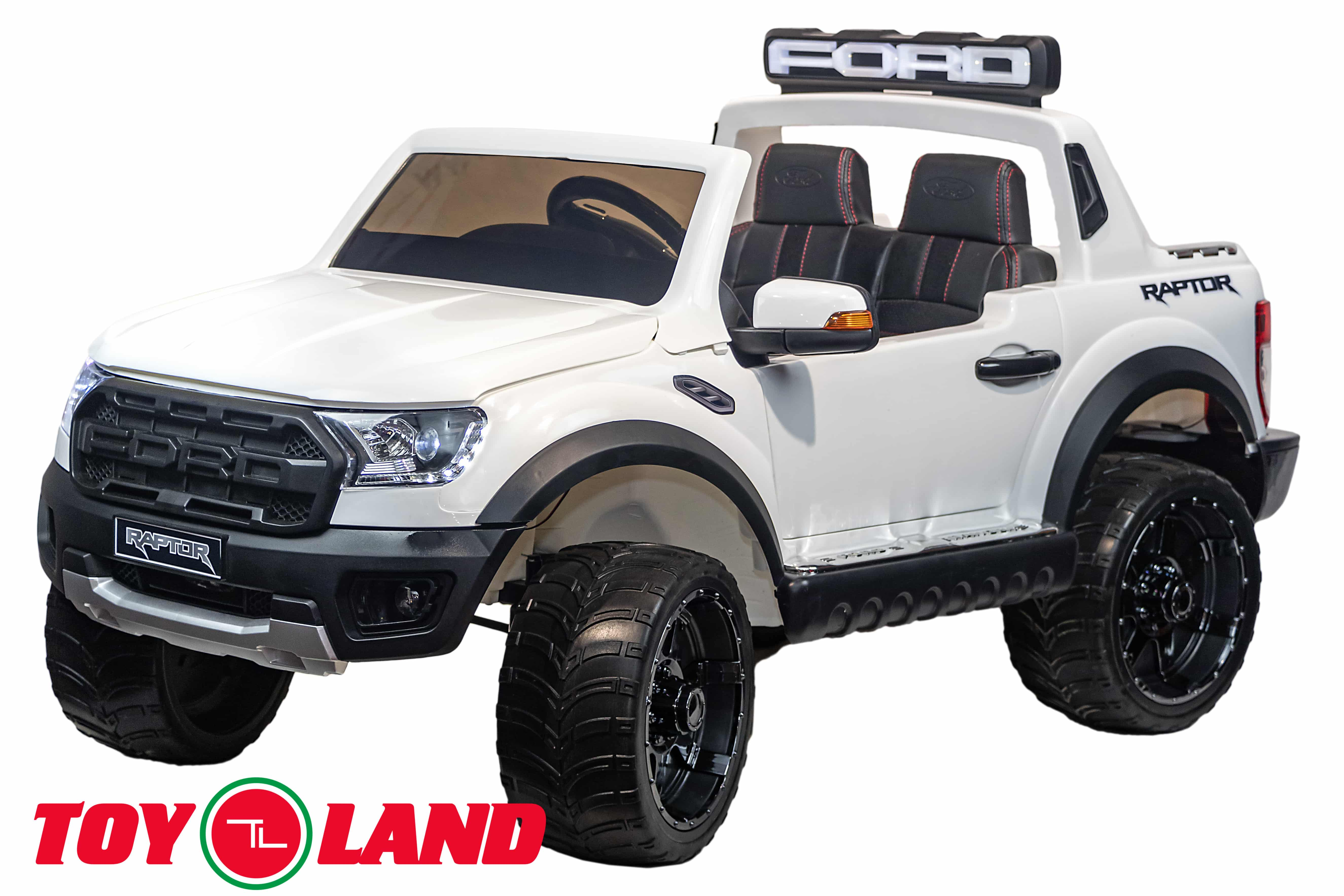 Электромобиль джип Raptor Ranger, белый