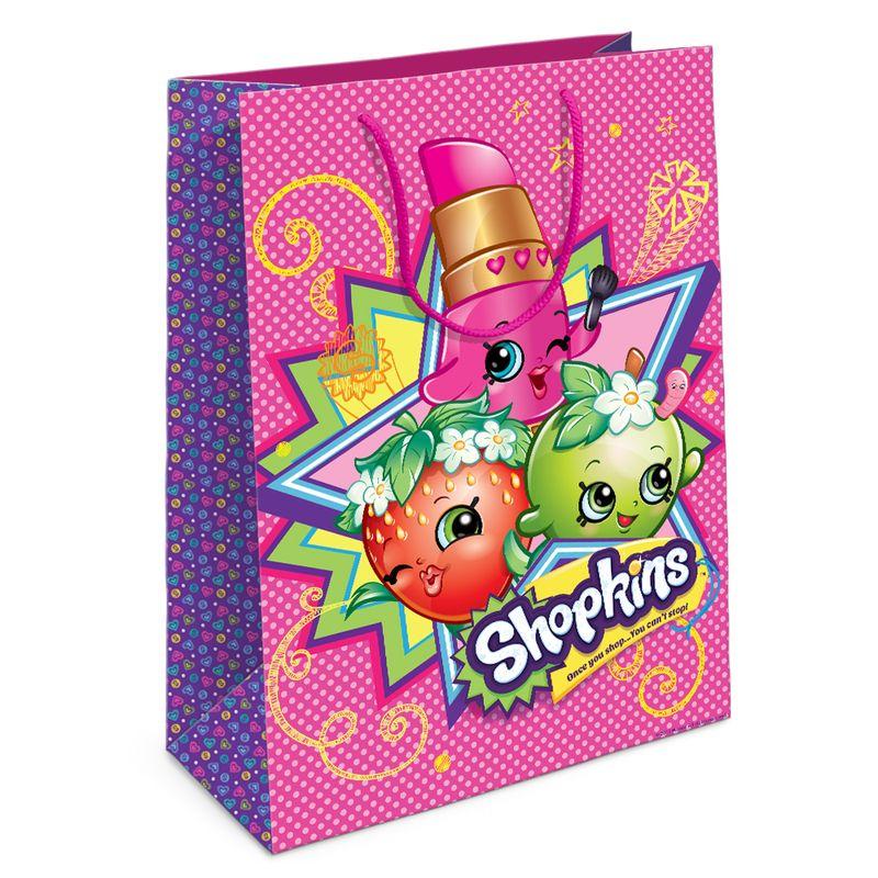 Пакет подарочный из серии Шопкинс, 35 х 25 х 9 см.Подарочные пакеты<br>Пакет подарочный из серии Шопкинс, 35 х 25 х 9 см.<br>