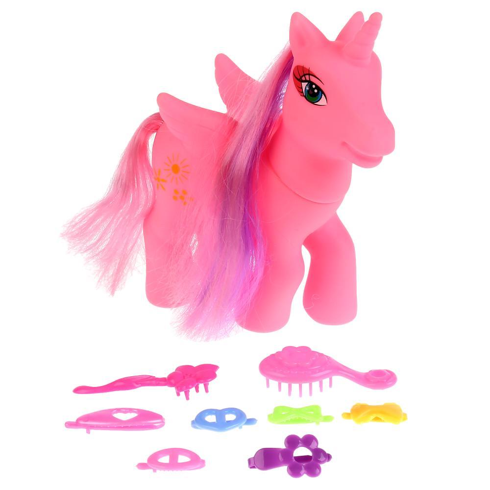 Фигурка пони розовая с аксессуарами фото