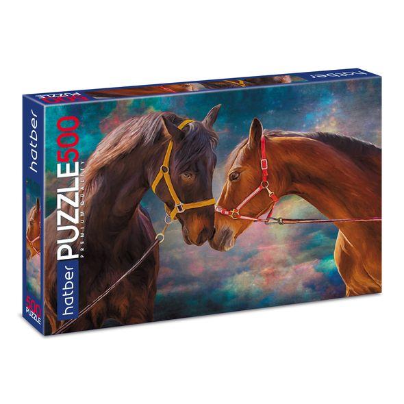 Пазл Premium 500 элементов размер 46 х 34 см – Лошади фото