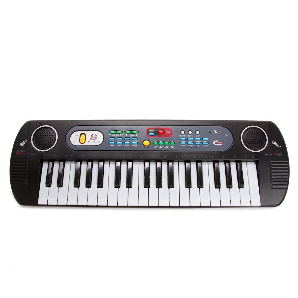 Синтезатор MQ3783с микрофоном, 37 клавиш, 220V/ батарейки фото