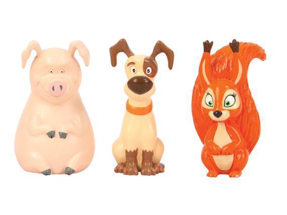 Игрушки из ПВХ - Белочка, собачка и хрюшкаМаша и медведь игрушки<br>Игрушки из ПВХ - Белочка, собачка и хрюшка<br>