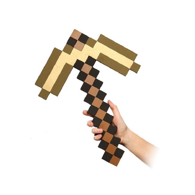 Купить Кирка 8 Бит, золотая пиксельная, 45 см, Pixel Crew