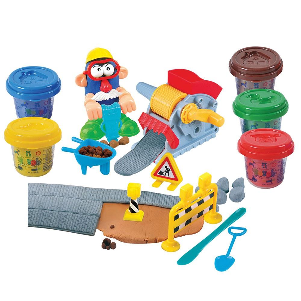Набор с пластилином - Дорожные работыНаборы для лепки<br>Набор с пластилином - Дорожные работы<br>