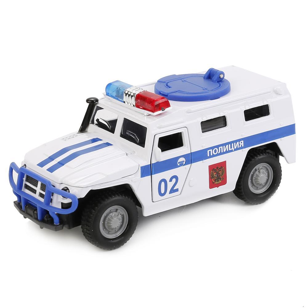 Купить Инерционная машина ГАЗ Тигр Полиция, свет-звук, 1:43, Технопарк