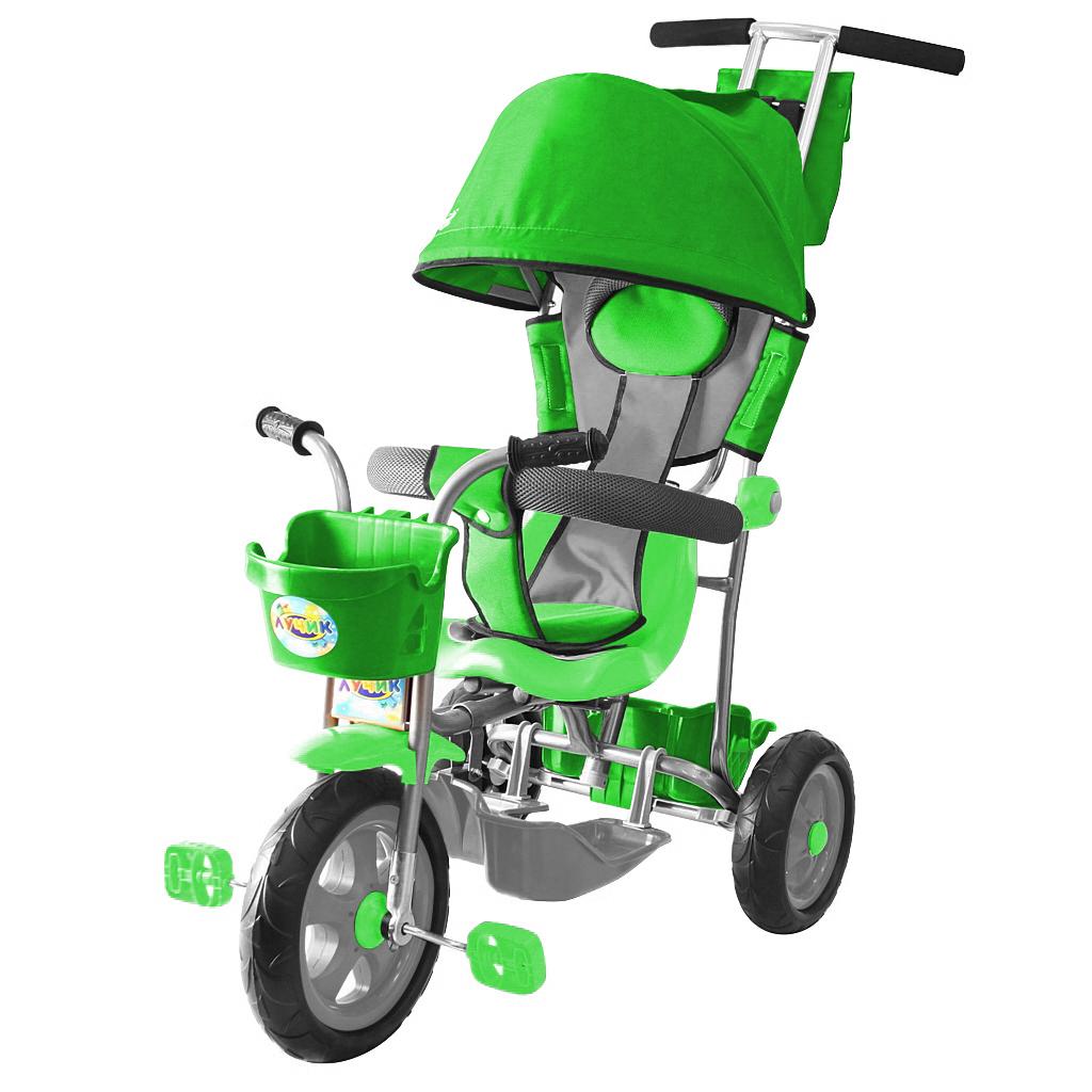 Л001 3-х колесный велосипед Galaxy  Лучик с капюшоном зеленый - Велосипеды детские, артикул: 158976