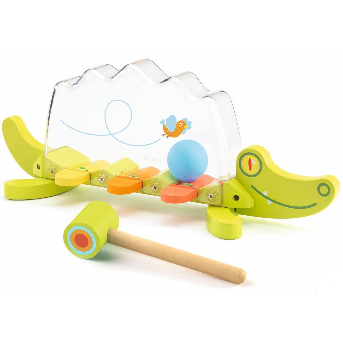 Музыкальная игрушка-забивалка - КрокодилСтучалки и сортеры<br>Музыкальная игрушка-забивалка - Крокодил<br>