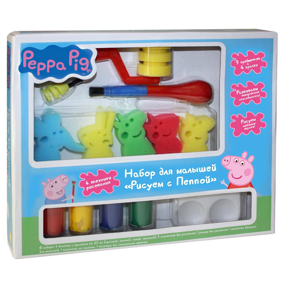 Купить Набор для малышей - Рисуем с Пеппой, Peppa Pig, Росмэн