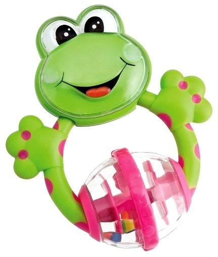 Погремушка с прорезывателем «Лягушка»Детские погремушки и подвесные игрушки на кроватку<br>Погремушка с прорезывателем «Лягушка»<br>