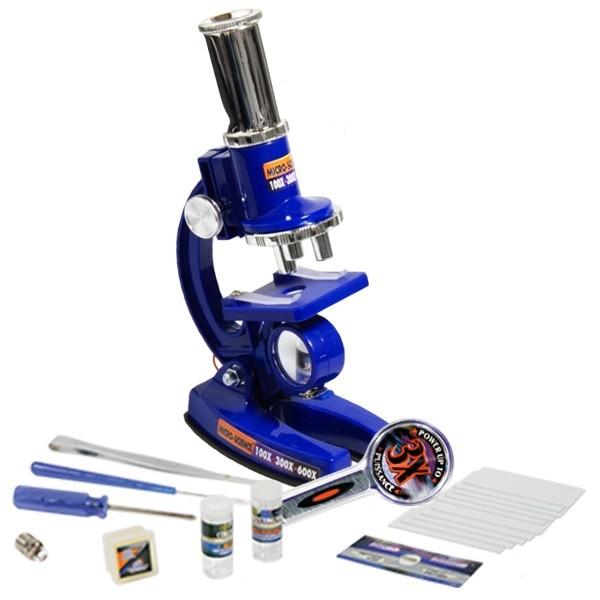 Купить Набор для опытов с микроскопом и аксессуарами, 33 предмета, синий, Eastcolight