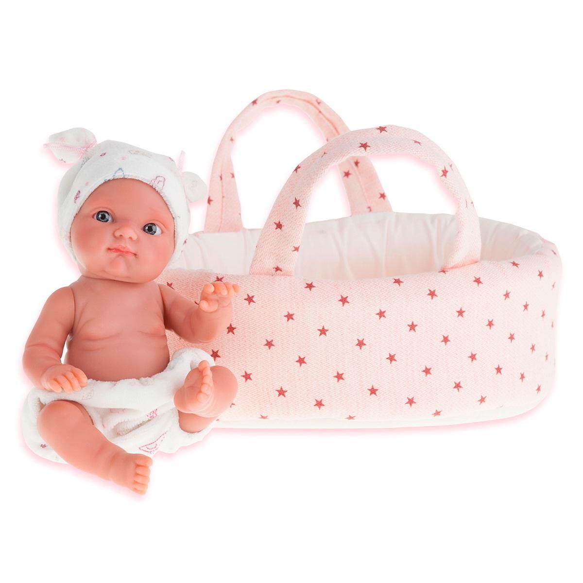 Кукла Пепита в белой корзине, 21 смКуклы Антонио Хуан (Antonio Juan Munecas)<br>Кукла Пепита в белой корзине, 21 см<br>