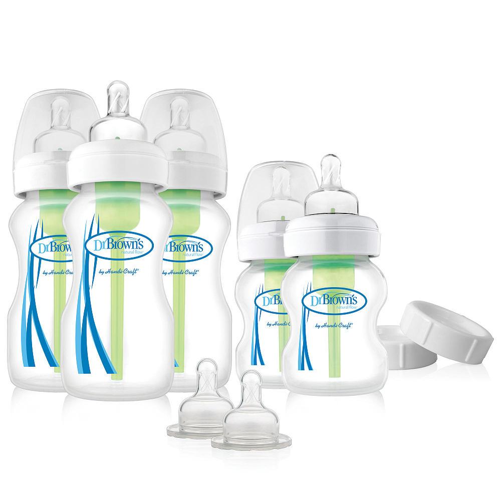 Набор из пяти противоколиковых бутылочек с широким горлышком, 270 и 150 мл.Товары для кормления<br>Набор из пяти противоколиковых бутылочек с широким горлышком, 270 и 150 мл.<br>