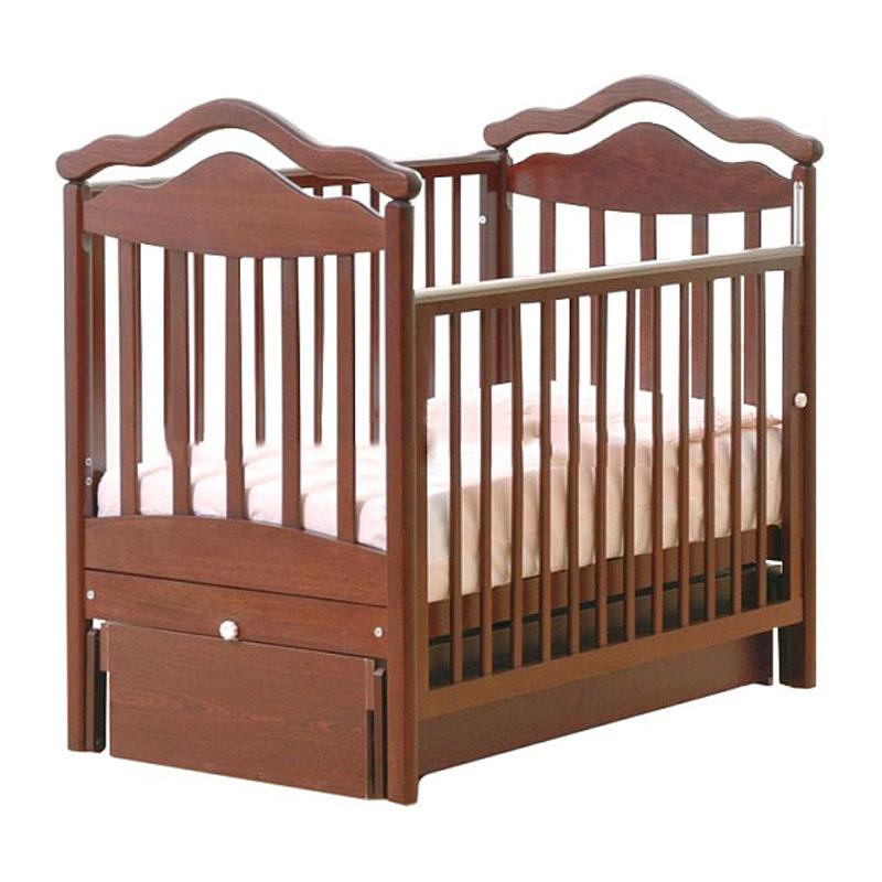 Купить Кровать детская Гандылян К-2005-1м Анжелика маятник универсальный, махагон, GANDYLYAN