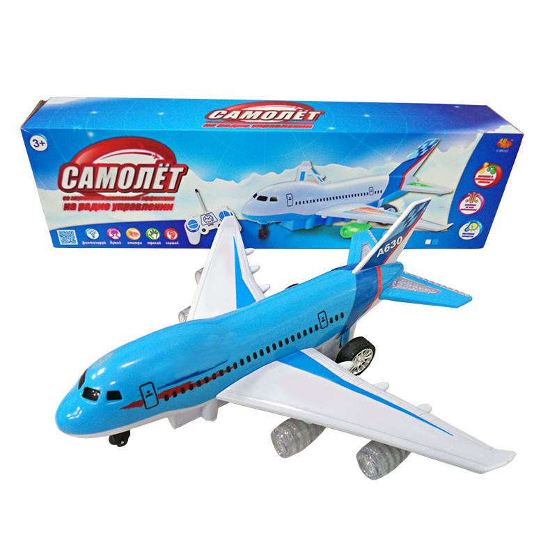 Радиоуправляемый самолет со световыми и звуковыми эффектамиЛетающие игрушки<br>Радиоуправляемый самолет со световыми и звуковыми эффектами<br>