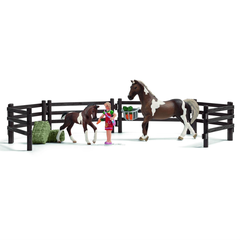 Купить Игровой набор кормление лошадей c фигурами и аксессуарами, Schleich