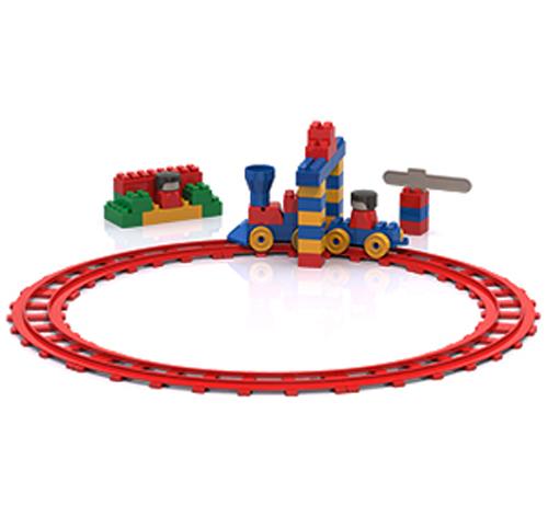Конструктор - Железная дорога, 59 деталейКонструкторы других производителей<br>Конструктор - Железная дорога, 59 деталей<br>