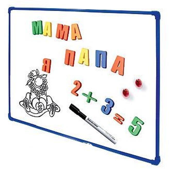 Доска магнитная белая 30 х 40 см, маркер, магнитМольберты<br>Доска магнитная белая 30 х 40 см, маркер, магнит<br>