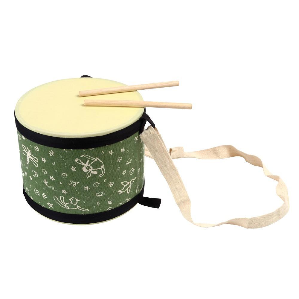 Купить Большой деревянный барабан с палочками, Plan Toys
