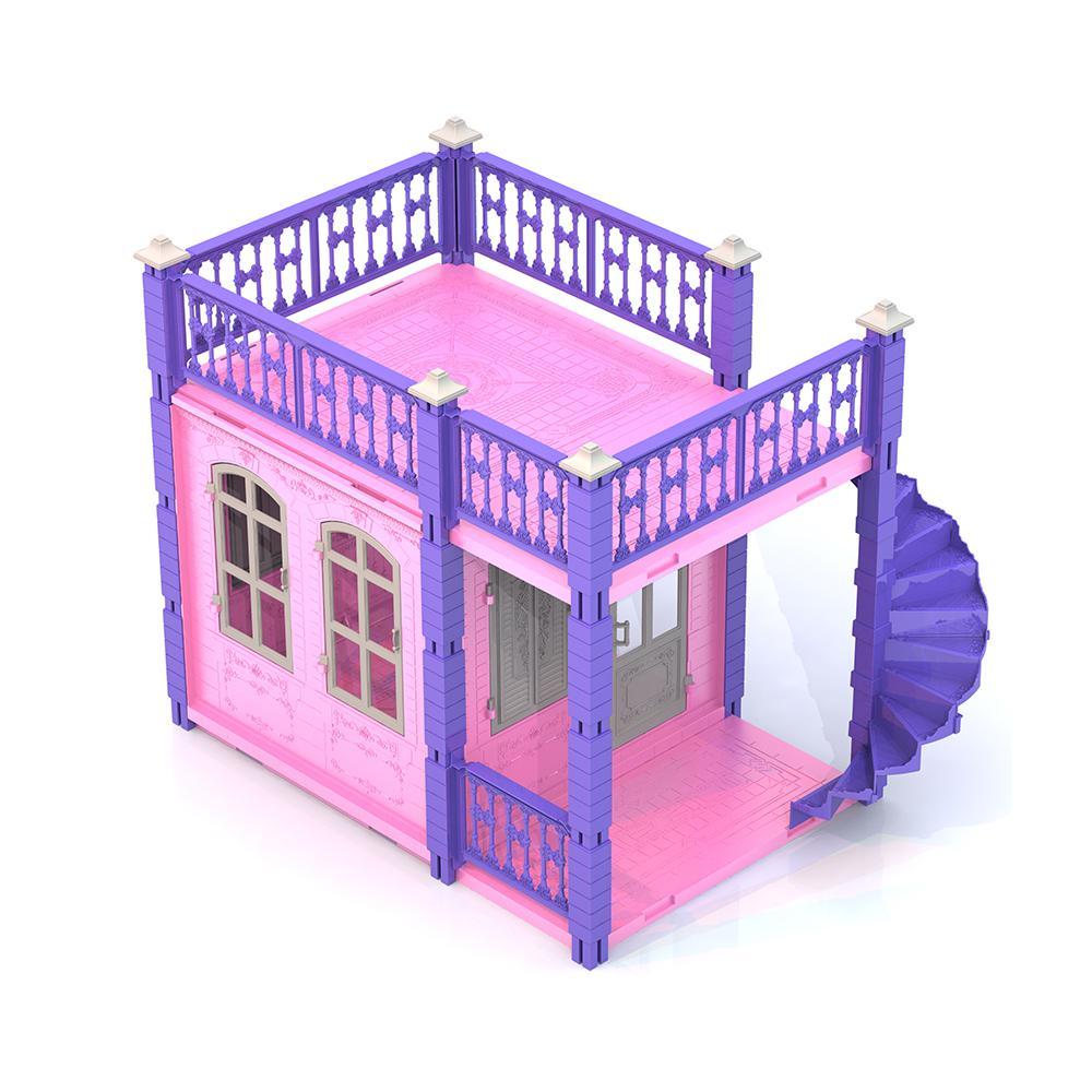 Купить Домик для кукол - Замок принцессы, розовый, 1 этаж, Нордпласт