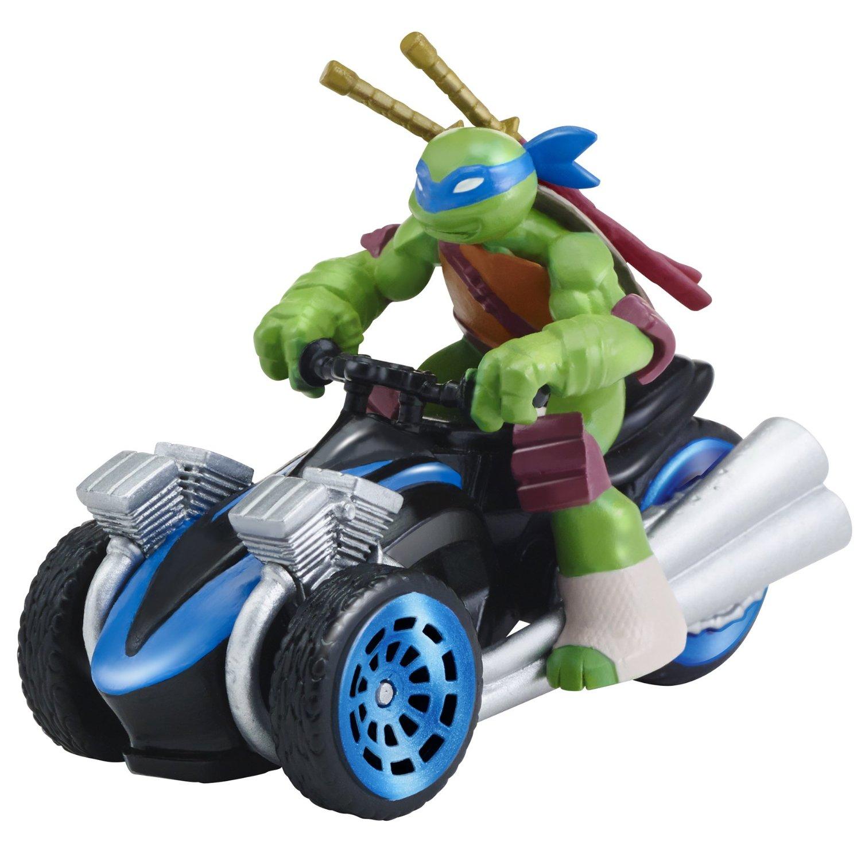 Купить Машинка Черепашки-ниндзя - Лео на Трицикле, 7 см, Playmates