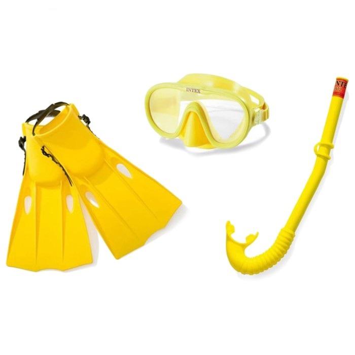 Набор для подводного плавания - Искатель приключений, маска, трубка, ласты