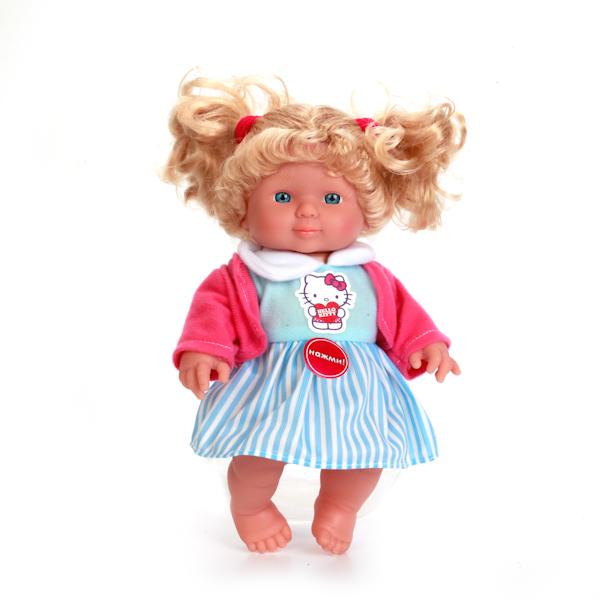 Кукла из серии Hello Kitty, озвученная, голубая одежда, 24 см.Куклы Карапуз<br>Кукла из серии Hello Kitty, озвученная, голубая одежда, 24 см.<br>