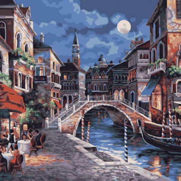 Раскраски по номерам - Картина «Ночная Венеция», 40 х 50 см.Раскраски по номерам Schipper<br>Раскраски по номерам - Картина «Ночная Венеция», 40 х 50 см.<br>