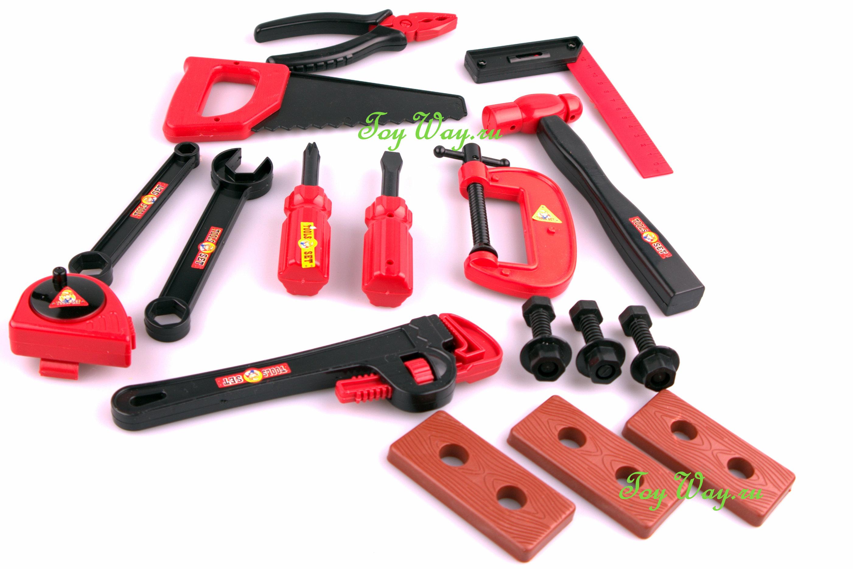 Игровой набор инструментов, 15 предметовДетские мастерские, инструменты<br>Игровой набор инструментов, 15 предметов<br>