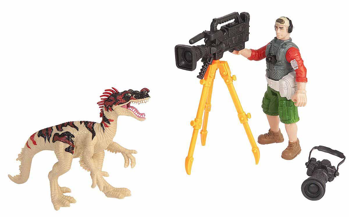 Набор - Динозавр Эораптор и кинооператорЖизнь динозавров (Prehistoric)<br>Набор - Динозавр Эораптор и кинооператор<br>