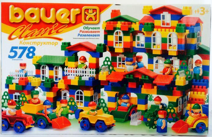 Конструктор Classik New, 578 элементовКонструкторы Bauer Кроха (для малышей)<br>Конструктор Classik New, 578 элементов<br>