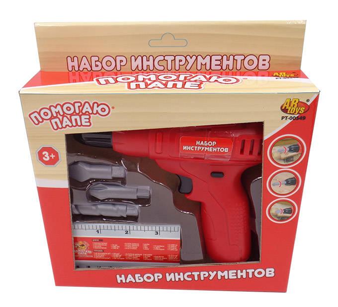 Набор инструментов - Помогаю Папе, 5 предметовДетские мастерские, инструменты<br>Набор инструментов - Помогаю Папе, 5 предметов<br>
