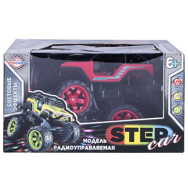 картинка Машинка трюковая Step Car на радиоуправлении с подвижной задней осью, USB-зарядка от магазина Bebikam.ru