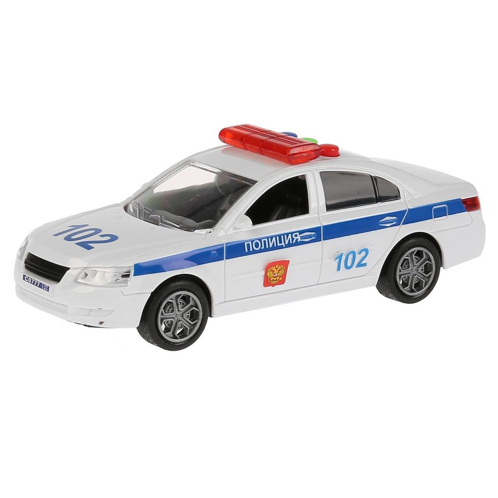 Купить Инерционная модель – Седан Полиция 14, 5 см, свет и звук, Технопарк
