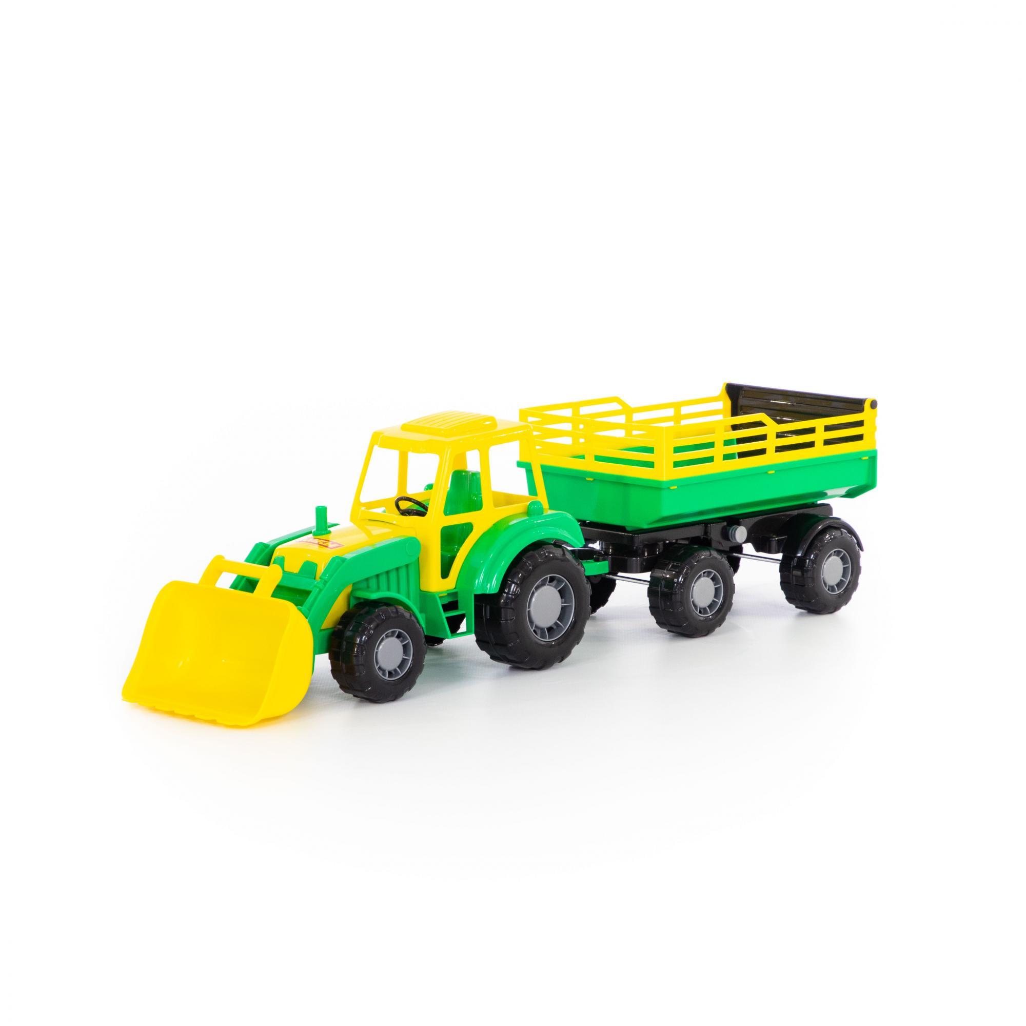 Купить Трактор с прицепом №2 и ковшом – Алтай, Полесье