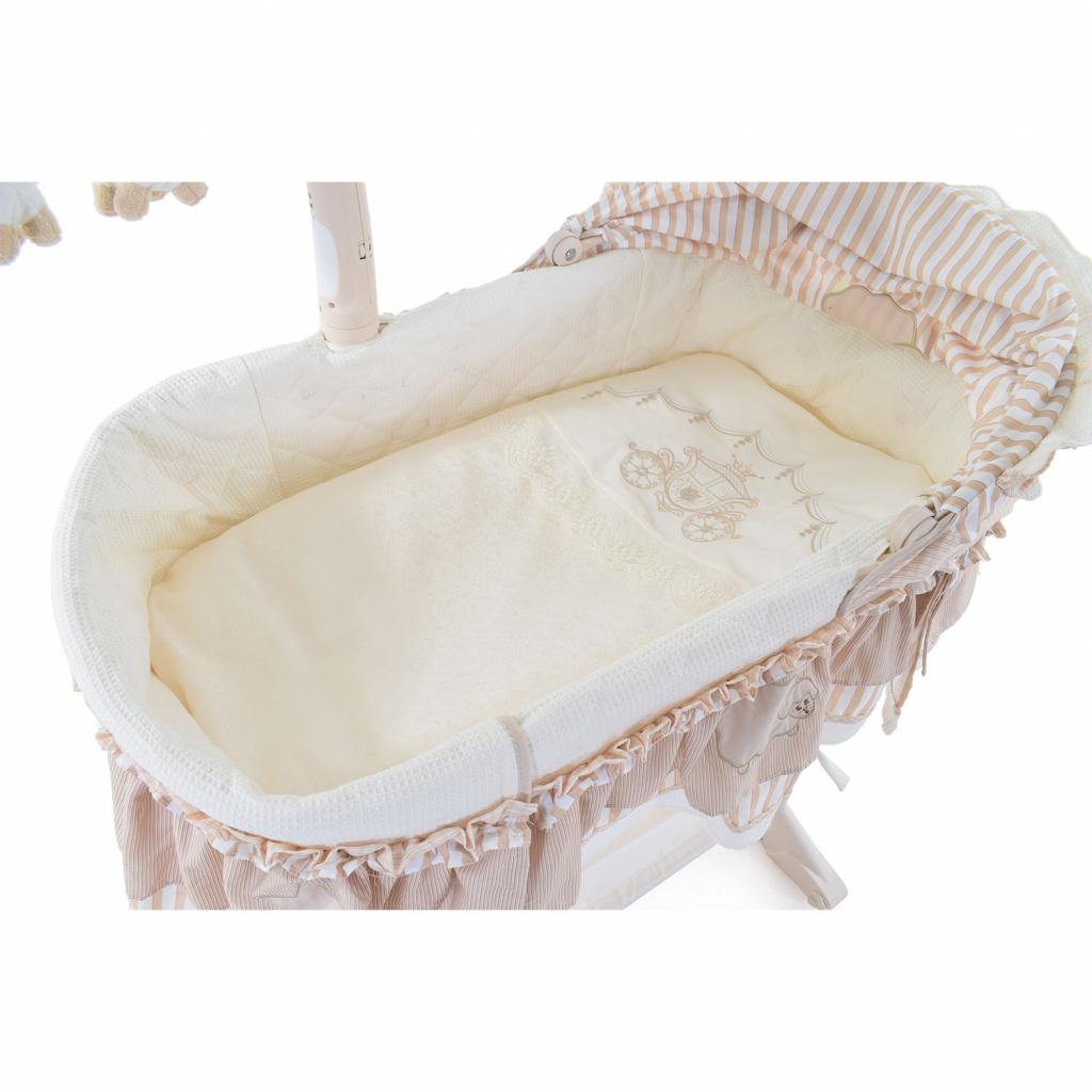 Купить Комплект постельного белья в электронную люльку - Nuovita Vettura, beige / бежевый, 3 предмета