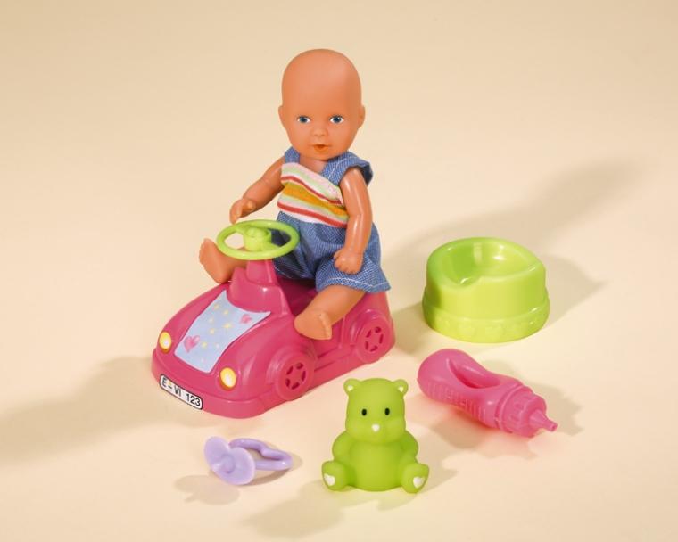 Набор с новорождённым пупсом, 12 см.Интерактивные пупсы New Born Baby и др.<br>Набор с новорождённым пупсом, 12 см.<br>