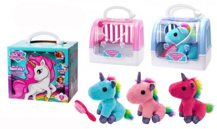 Купить Мягка игрушка - Единорог в переноске с расческой, JUNFA TOYS