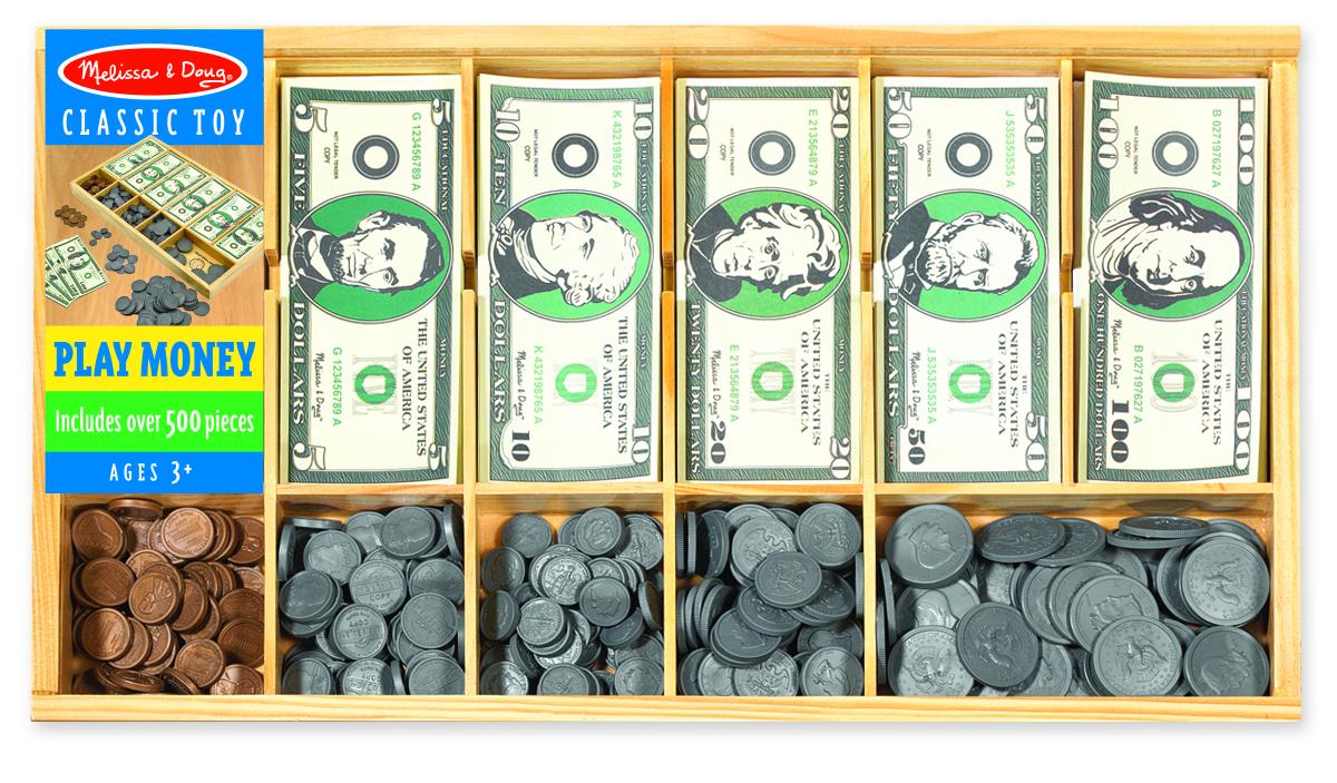 Купить Набор - Монеты и купюры из серии Деревянные игрушки, Melissa&Doug