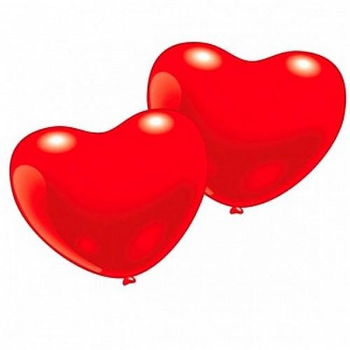 Набор из 10 фигурных шариков – Сердечко, красное малоеВоздушные шары<br>Набор из 10 фигурных шариков – Сердечко, красное малое<br>