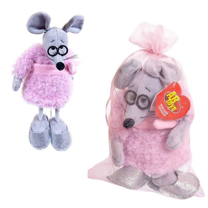 Мягкая игрушка - Мышка в розовом пальто, 16 см фото