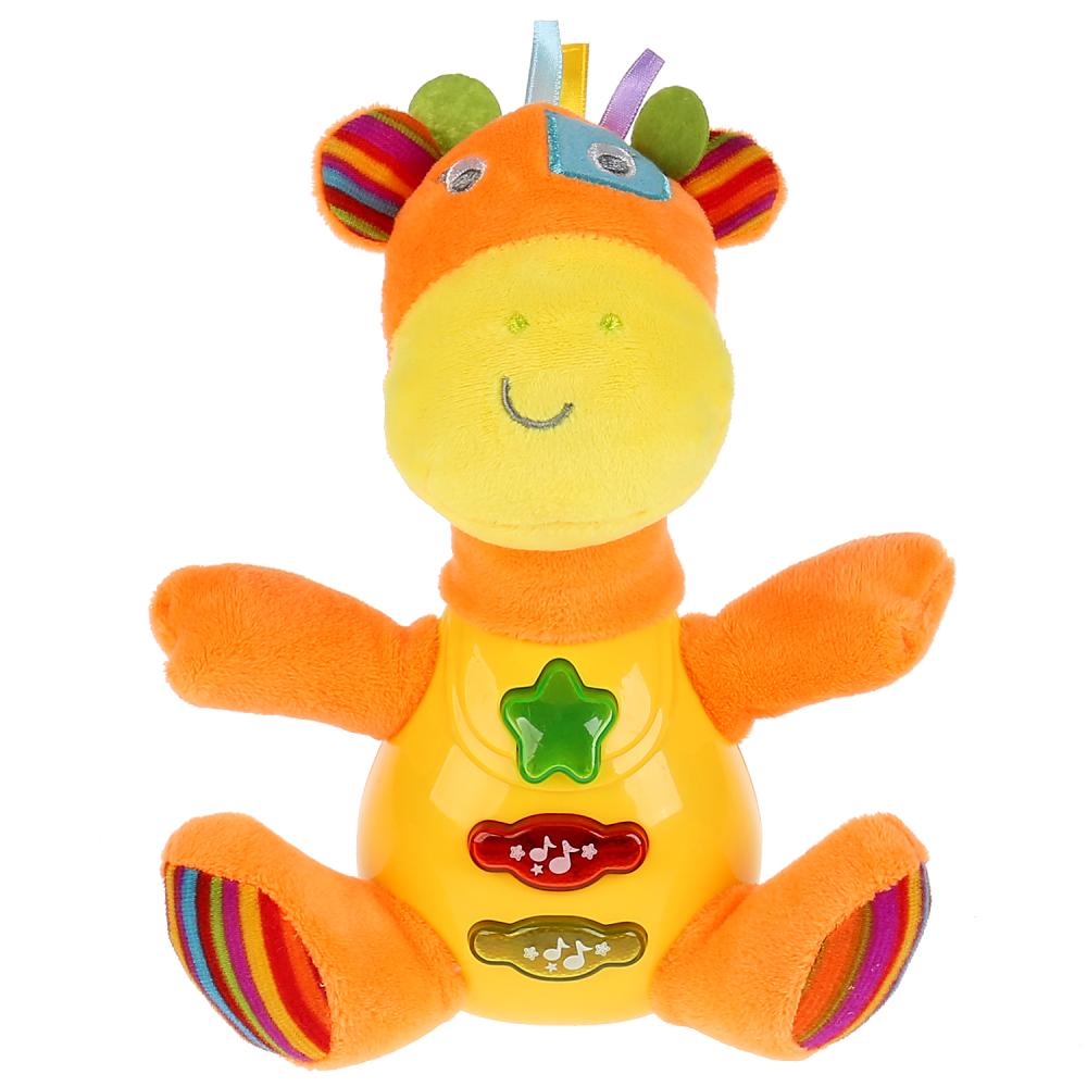 Купить Игрушка плюшевая - Музыкальный жираф, песни на стихи С. Маршака, Умка