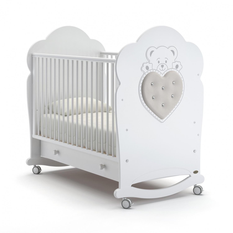 Купить Детская кровать Nuovita Fortuna dondolo, цвет - Bianco/Белый