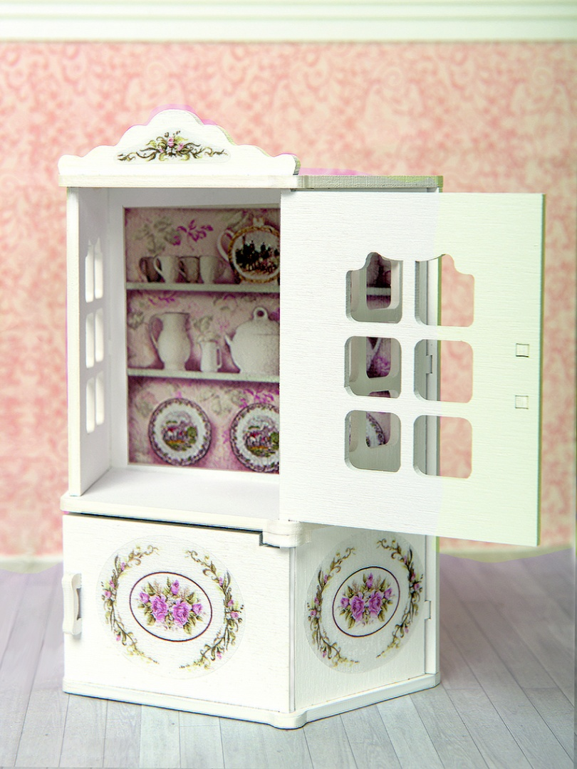 Купить Набор мебели для кукольного дома – Столовый буфет, коллекция Прованс, ЯиГрушка