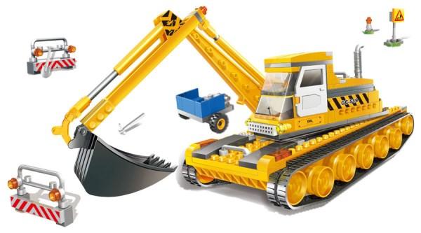 Развивающий конструктор - Самосвал с ковшомКонструкторы BANBAO<br>Развивающий конструктор - Самосвал с ковшом<br>