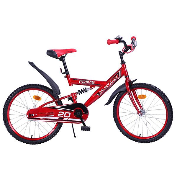 Подростковый велосипед – Mustang Prime, 20, MR1-тип, красно-черныйВелосипеды детские<br>Подростковый велосипед – Mustang Prime, 20, MR1-тип, красно-черный<br>