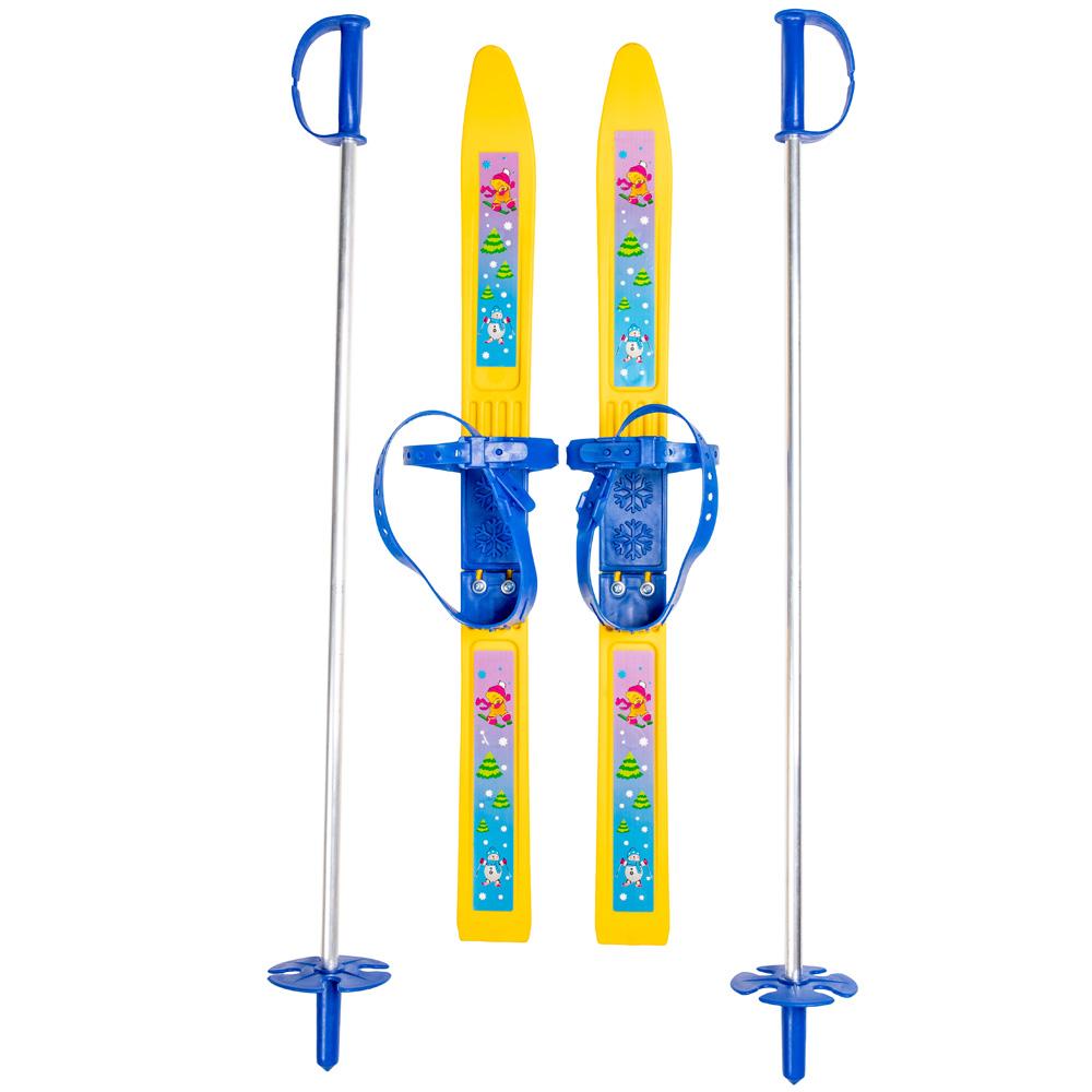 Купить Лыжи детские Олимпик-Спорт - Мишки, с палками, Дартс-Ковров
