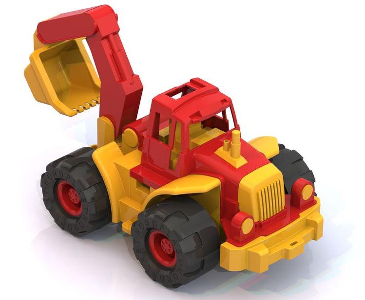 Трактор богатырь с ковшомИгрушечные тракторы<br>Трактор богатырь с ковшом<br>