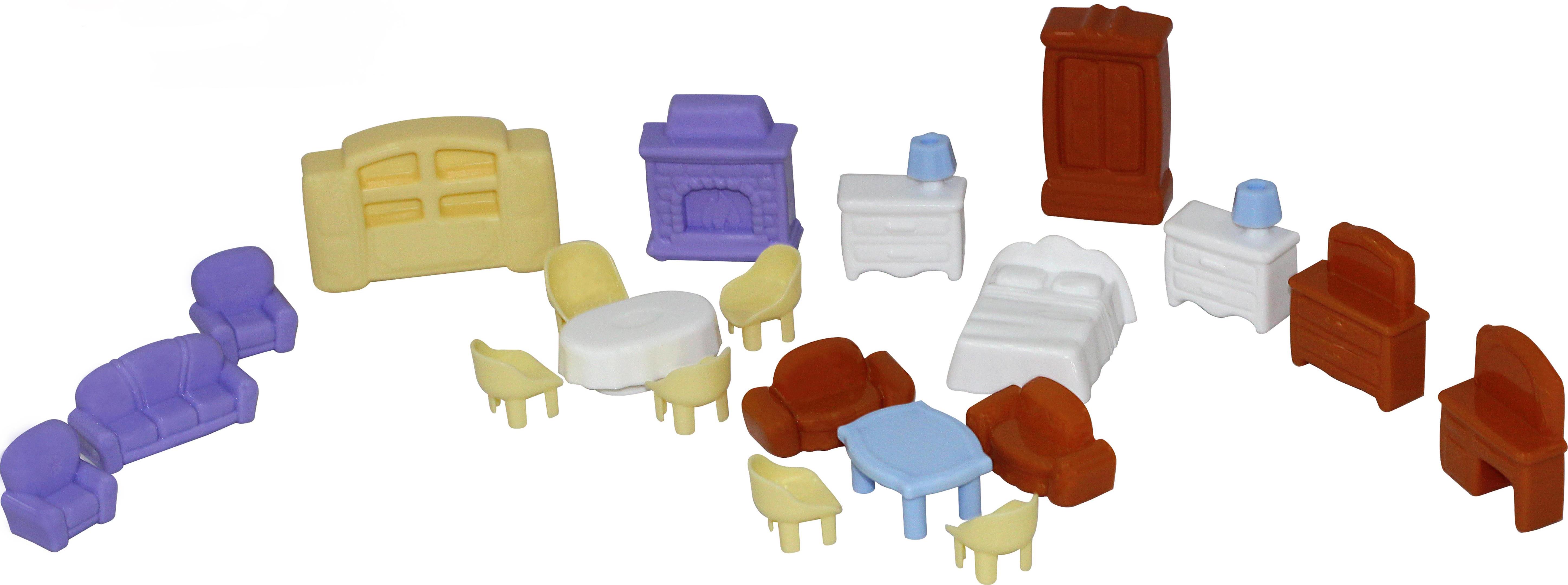 Набор мебели для кукол, 21 элементКукольные домики<br>Набор мебели для кукол, 21 элемент<br>